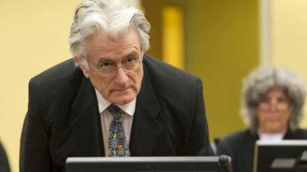 Radovan Kardzic steht vor Gericht.