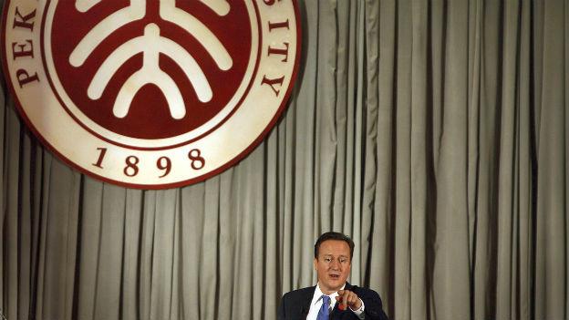 David Cameron bei seinem letzten Chinabesuch im 2010.