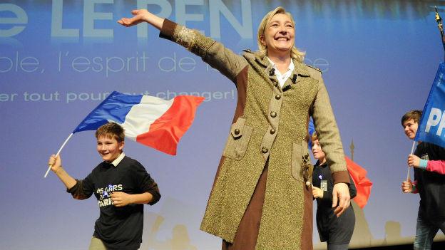 Marine Le Pen bei einer Wahlkampfveranstaltung.