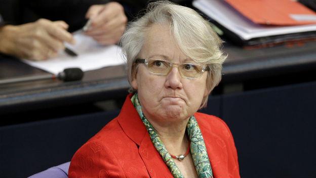 Annette Schavan im Bundestag im Oktober 2012