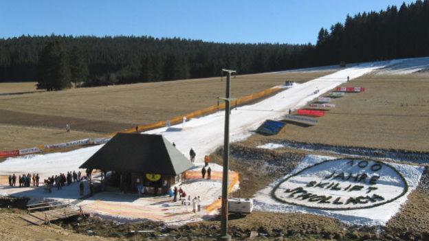 Der Skihang beim Schneckenhof in Schollach im Februar 2008