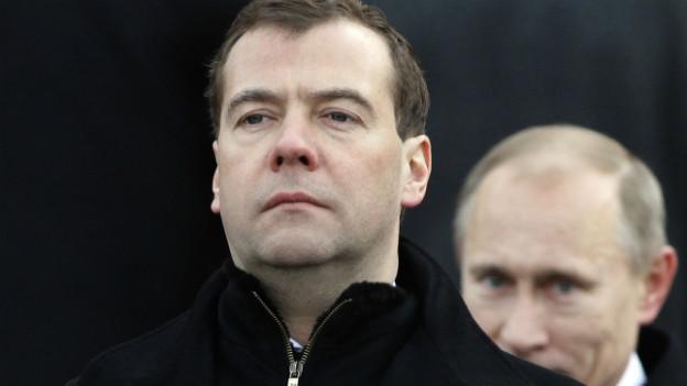 Der lange Schatten Putins: Dmitri Medwedew steht in der Kritik.