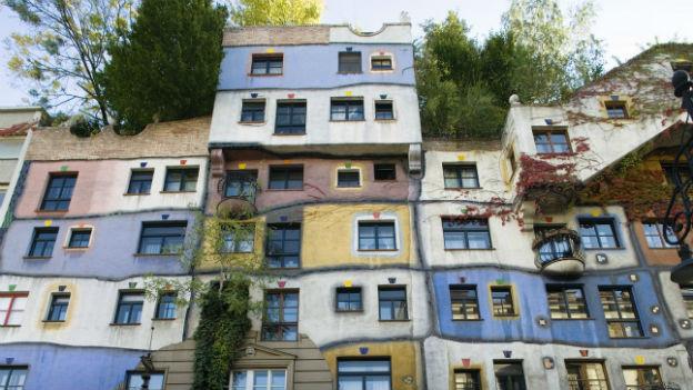 Das Hundertwasserhaus in Wien, aufgenommen am 10. Oktober 2006