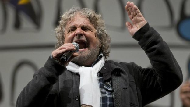 Der Komiker Beppe Grillo begeisterte mit seinem Wahlkampf die Massen