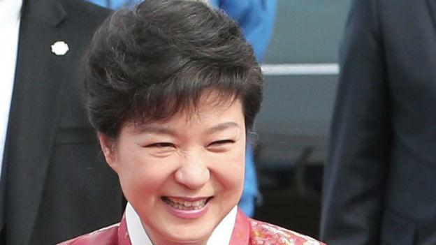 Südkoreas Präsidentin Park Geun-Hye nach der Amtseinsetzung am 25. Februar 2013