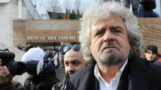 Profitiert von der Patt-Situation in Italien: Komiker und Politiker Beppe Grillo.