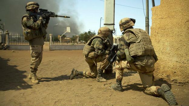 Französische Soldaten in Mali.