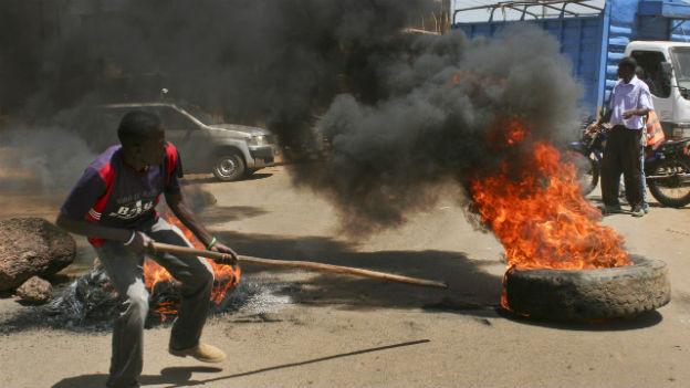 Unruhen begleiteten die letzten Wahlen in Kenia.