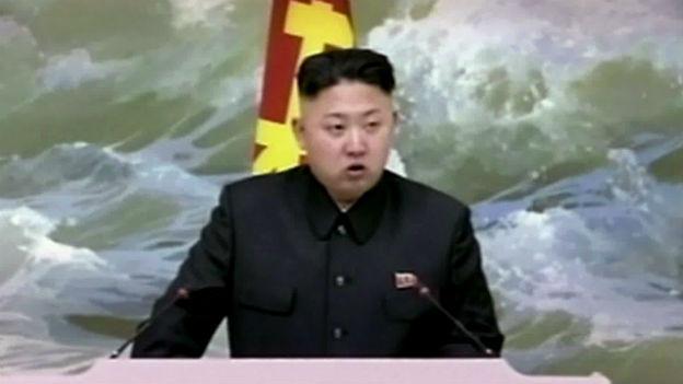 Nordkoreanisches Säbelrasseln: Machthaber Kim Jong Un.