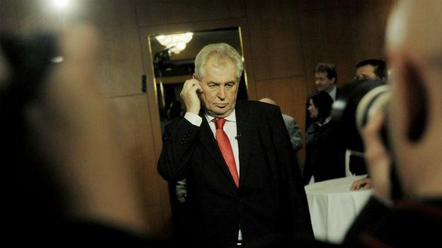 Der neue tschechische Staatspräsident: Milos Zeman.