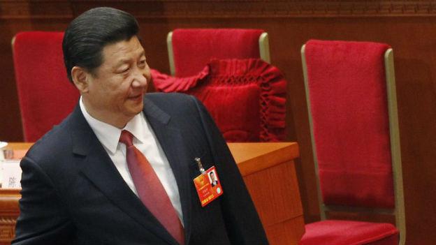 Der neugewählte Präsident Chinas Xi Jinping am 12. Nationalen Volkskongress am 14. März 2013