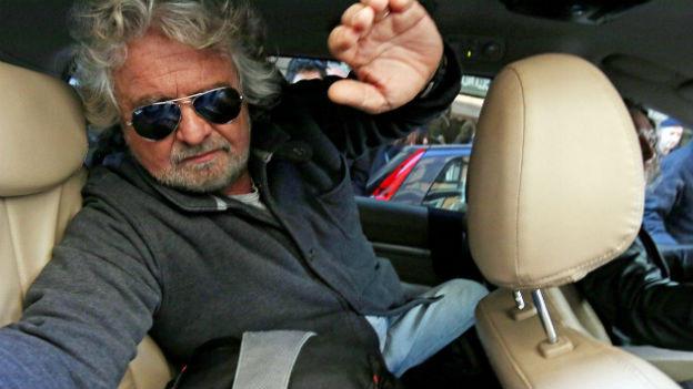 Will von den Angeboten von Mitte-Links nichts wissen: Pepe Grillo, der Kopf der Bewegung Cinque Stelle.