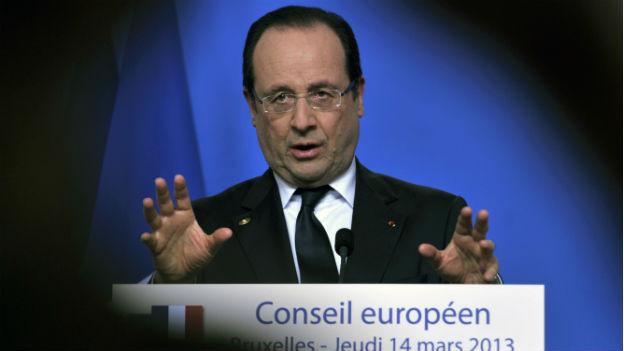 Kann sich Waffenlieferungen an Syrische Rebellen vorstellen: Frankreichs Präsident Hollande.
