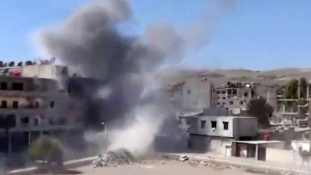 Kämpfe in der syrischen Haupststadt Damaskus.