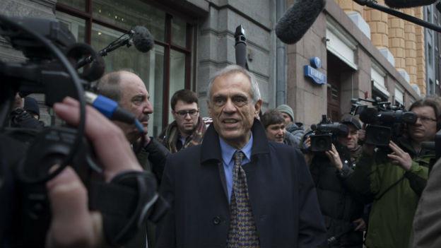 Zyperns Finanzminister Michalis Sarris verlässt das russische Finanzministerium