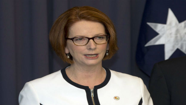 Nur vorübergehende Siegerin: Julia Gillard.