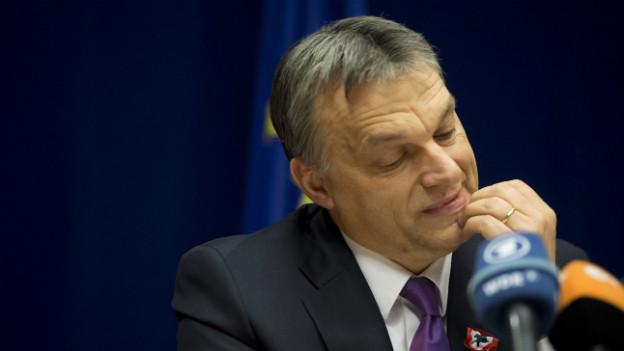 Vitkor Orban im März 2013 bei einer Rede in Brüssel