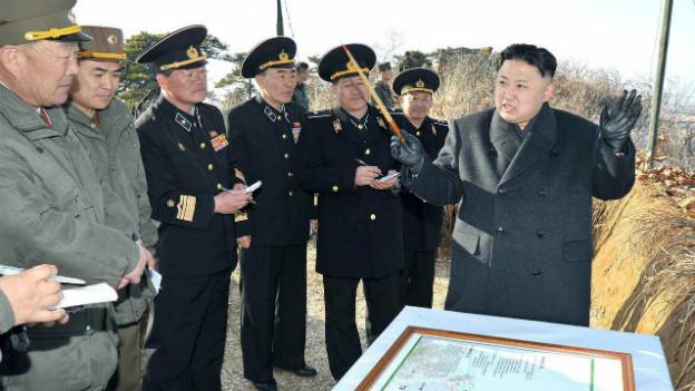 Nordkoreas Machthaber Kim Jong-un bei einer Inspektion vor wenigen Tagen