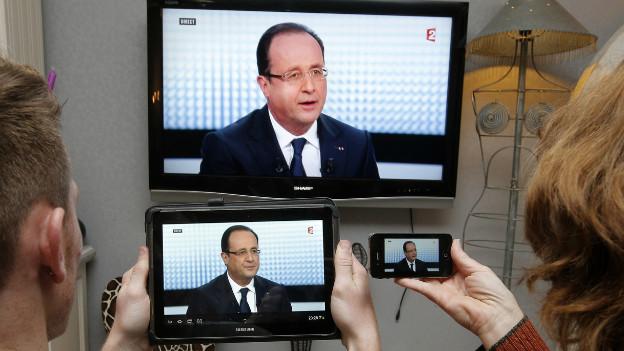 François Hollande fand mit seinem Interview auf France 2 viel Beachtung aber wenig Zustimmung