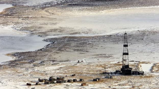 Ölförderung in der sibrischen Tundra.