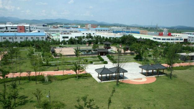 Die gemeinsame nord- und südkoreanische Industriezone bei Kaesong.