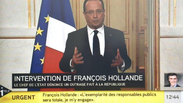 Präsdent Hollande bezieht im Fernsehen Stellung zur Schwarzgeld-Affäre
