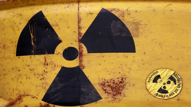 Behälter mit Atommüll.
