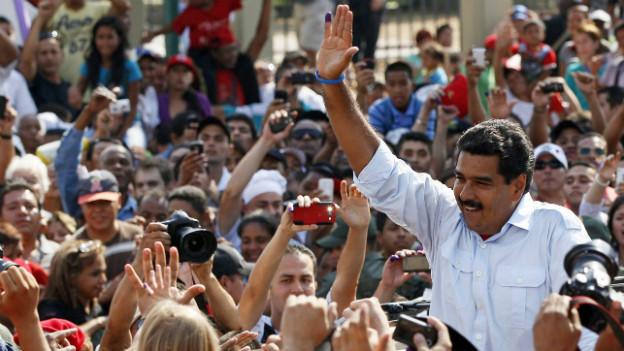 Nicolas Maduro gewinnt die Wahlen in Venezuela.