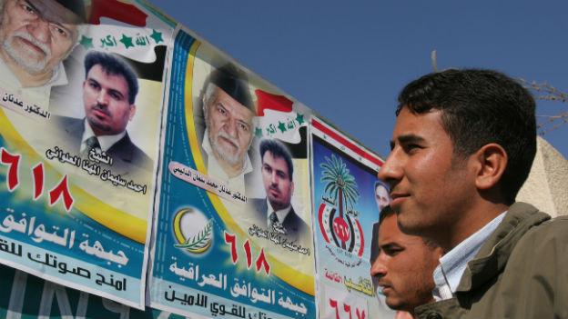 Wahlkampf in Irak.