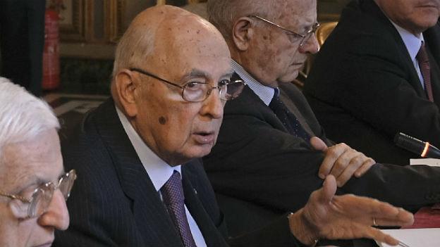 Noch kein Nachfolger für Staatspräsident Napolitano.