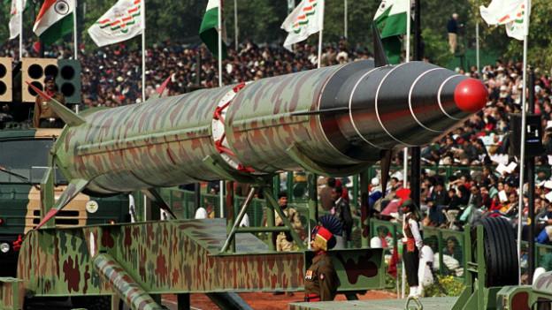 Wäre fähig atomare Sprengköpfe zu transportieren: Indische Langstreckenrakete Agni II