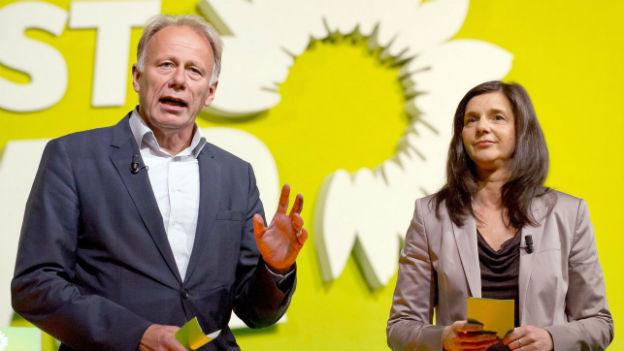 Die Spitzenkandidaten der Grünen: Jürgen Trittin und Katrin Göring-Eckardt.
