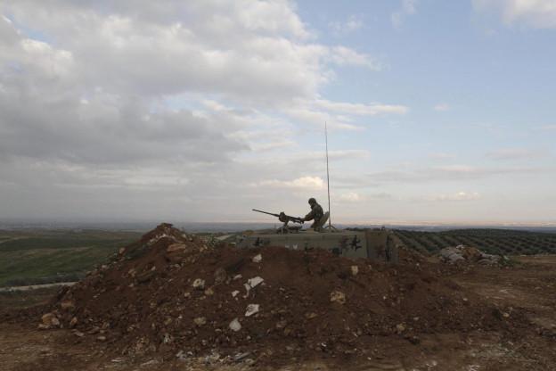 Soldat an der jordanisch-syrischen Grenze.