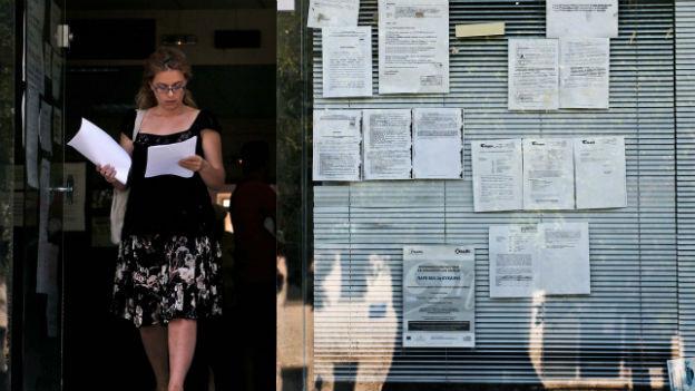 Schwierige Jobsuche ist in Athen.