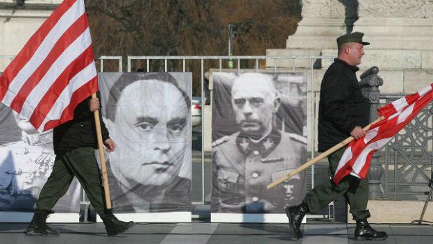 Nazi-freundliche Ungaren in Budapest.