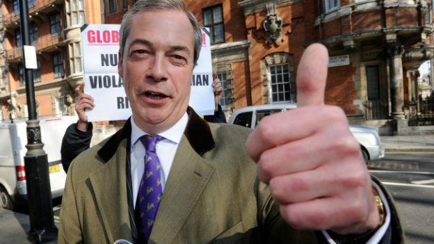 Nigel Farage, Chef der britischen Anti-EU-Partei UKIP.