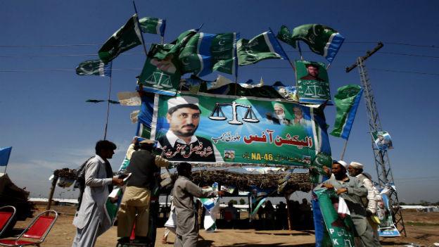 Wahlkampf in Pakistan.