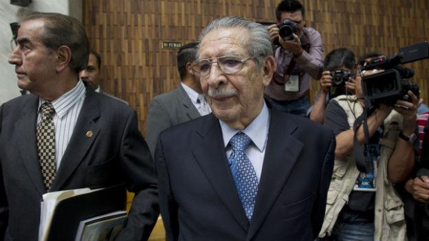 Rios Montt - der guatemaltekische Ex-Diktator wegen Völkermord verurteilt