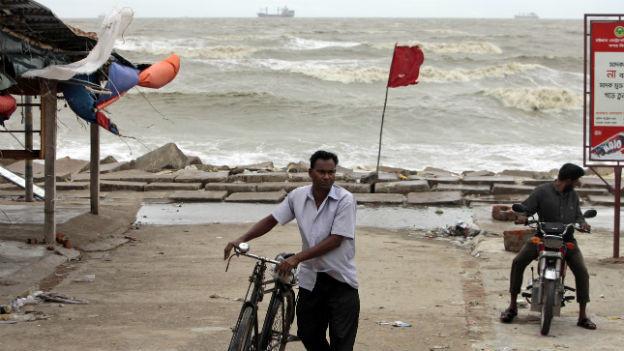 Die Bevölkerung in Bangladesch wurde vor dem Sturm rechtzeitig gewarnt.