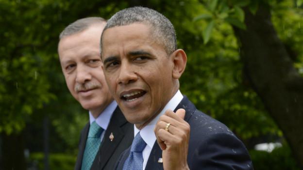 US-Präsident Obama bei der Pressekonferenz mit dem türkischen Ministerpräsident Erdogan.