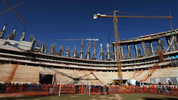 Probleme mit der Infrastruktur: WM-Stadion im brasilianischen Recife.