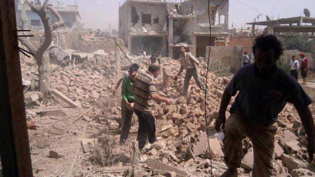Das verwüstete Kusair nach einem Angriff von Assads Truppen.
