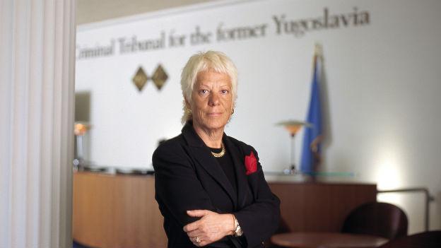 Carla del Ponte, Chefanklägerin am Uno-Kriegsverbrechertribunal 2005.
