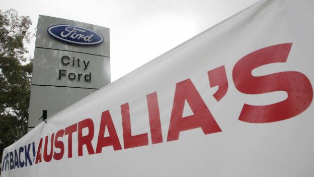 Ford-Verkaufsstelle in Australien.