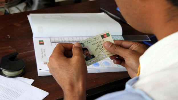 Wählerregistrierung in Kabul.