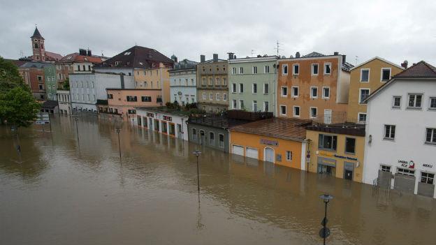 Hochwasser in Passau (Bayern)