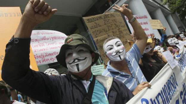 Protestierende in Bangkok.