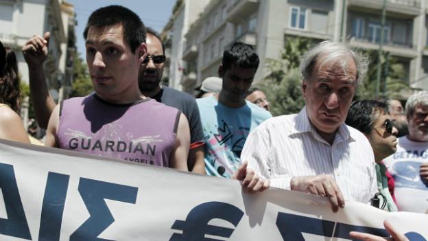 Demonstrationen gegen das Sparprogramm in Athen: IWF räumt Fehler bei der Griechenlandrettung ein.