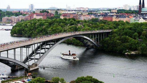 Nach den Unruhen in Stockholm herrscht wieder Normalität, hier am 1. Juni, als der traditionelle Marathon ungestört durch die schwedische Hauptstadt durchgeführt wurde