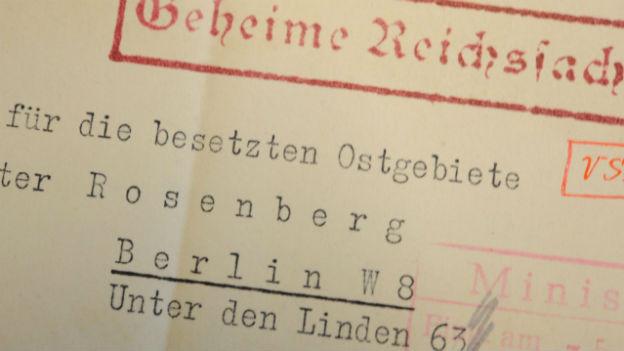 Historisch wertvoll: Dokumente des Hitler-Vertrauten Rosenberg.